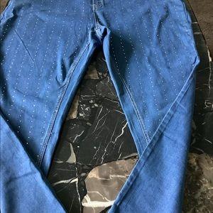 NWT Ashley Stewart crystal laden jeans size 30